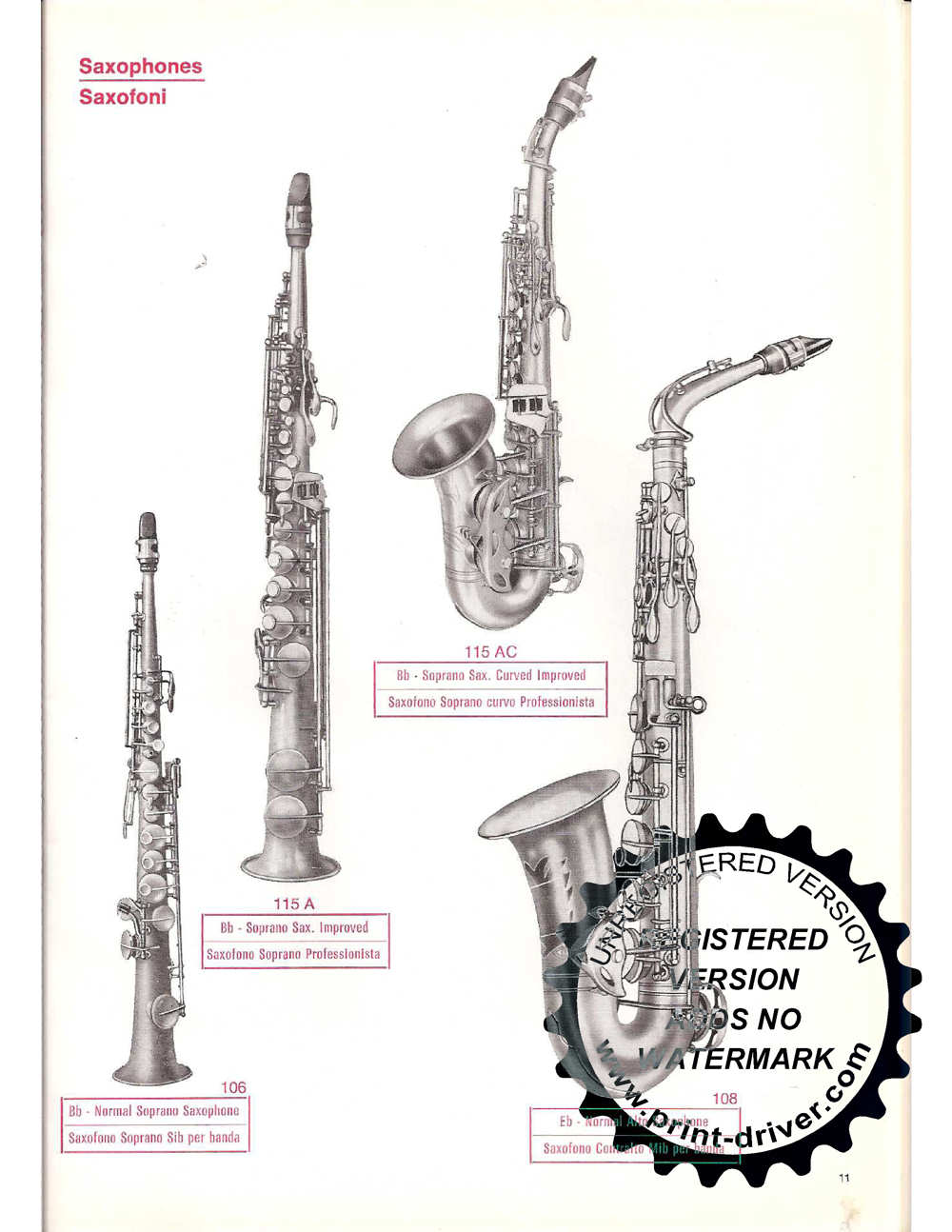 Saporetti and Cappelli straight soprano sax