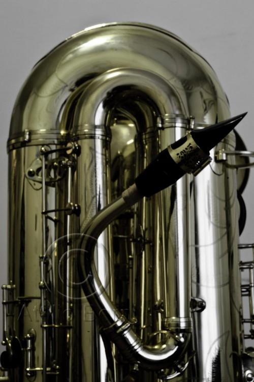 J'Elle Stainer subcontrabass saxophone