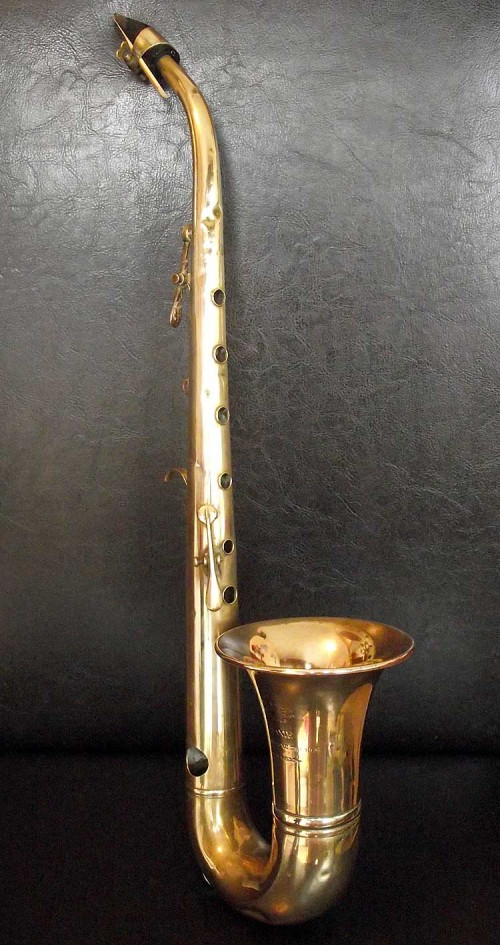 Couesnon Saxie, vintage, French, saxophone-shaped instrument, circa 1920s,