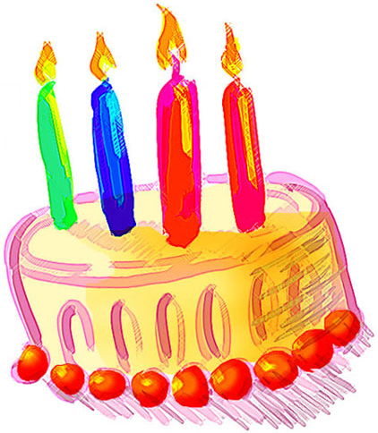 candles, cake, blue, green, pink, orange, cake, birthday