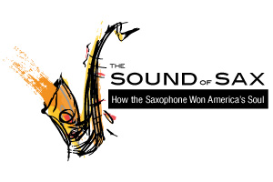 Sound Of Sax logo, Museum of Making Music, San Diego, exhibit, installation