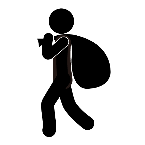 thief, clip art, pictogram