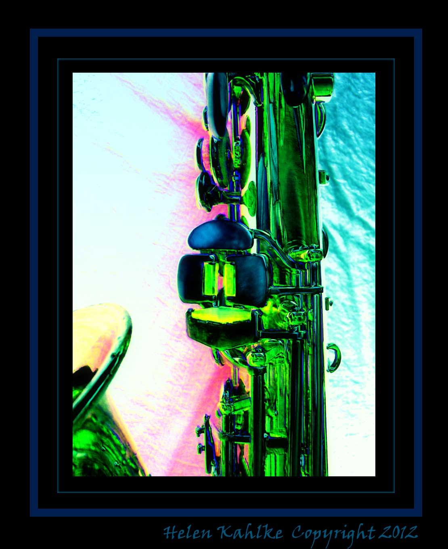 alto saxophone, left pinkie keys, Pierret, French, vintage, photo effects