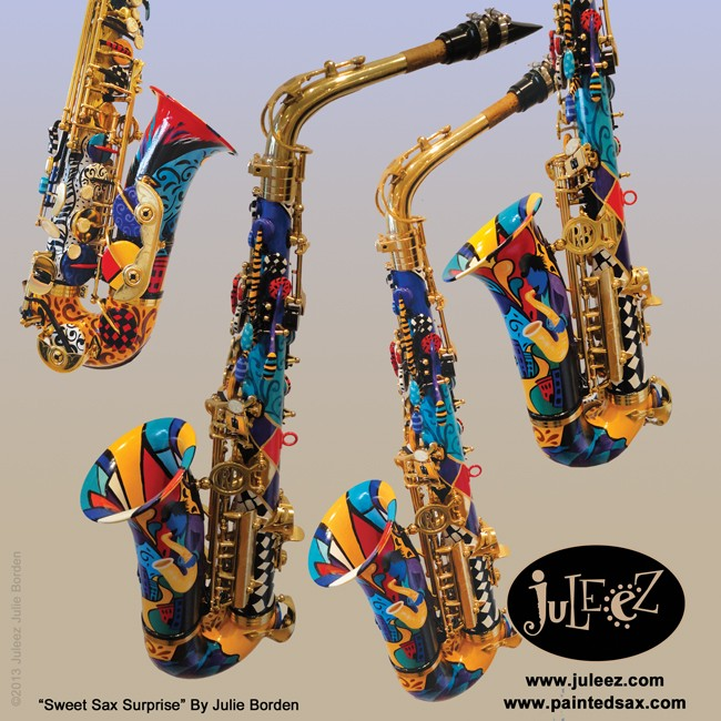 Hand Painted Saxophones Would You Do This To Your Selmer