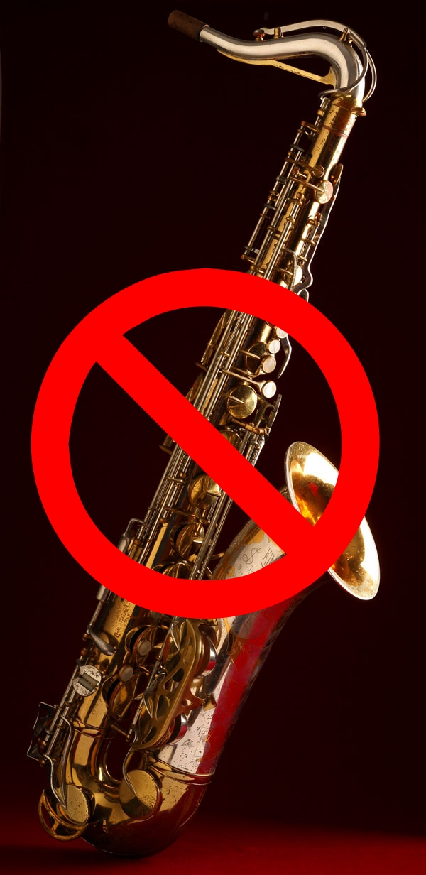 Silver Sonic, King Super 20, tenor saxophone, tenor sax, not the right saxophone for university, no sax, no saxophone