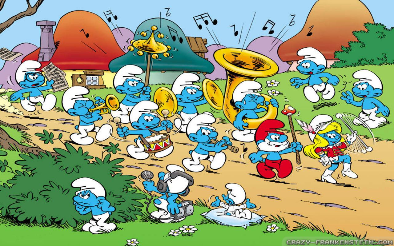 Cartoon Concert Band Smurf Band Concert Band