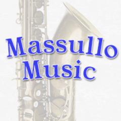 Massullo Music Logo, saxophone, sax