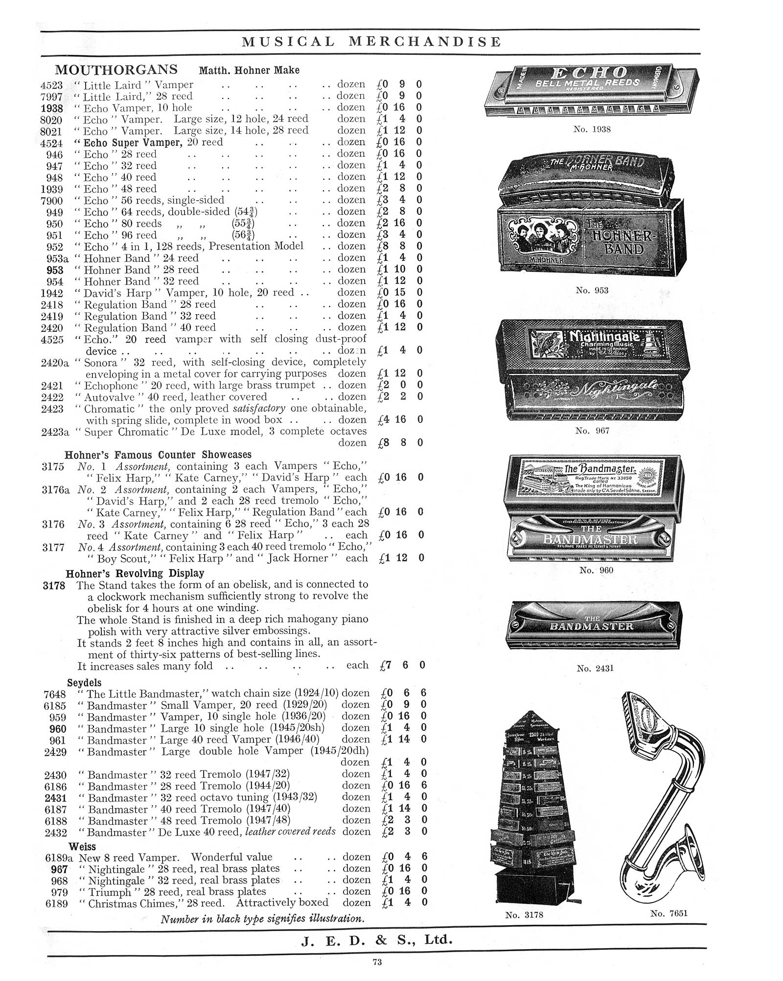 "1930 Jedson & Mastertone catalogue, vintage catalogue, sax-shaped ""things"", sax-shaped harmonica"