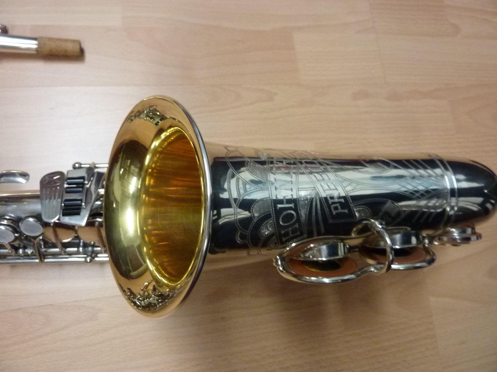 saxophone bell, alto sax, Max Keilwerth, transitional Hohner President alto sax
