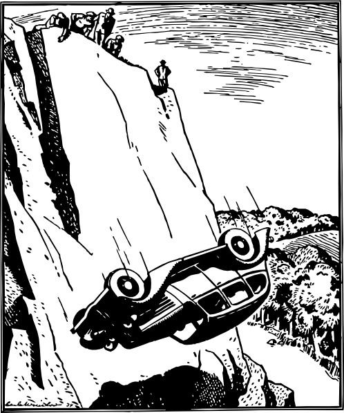 car flipped over a cliff, clip art, long weekend car accidents,