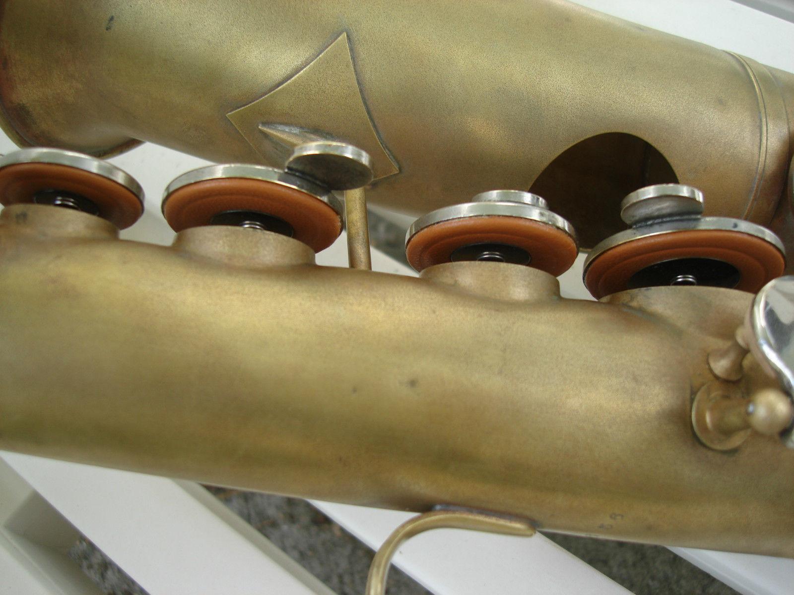 saxophone pads, sax tone holes, Buescher Academy alto sax