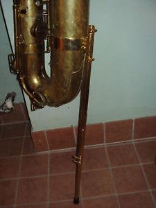 telescopic floor peg for Buescher True Tone bass saxophones, bass sax,