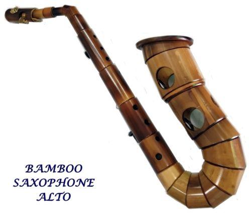 bamboo saxophone, wooden sax, DIY saxophone, alto bamboo sax