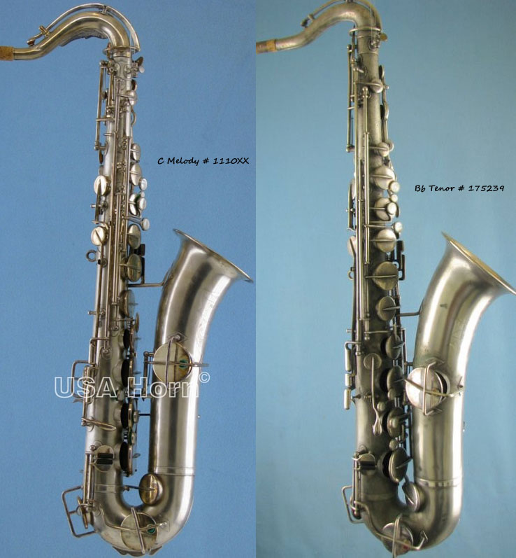 How can you tell a C melody from a Bb tenor sax, Buescher C melody sax, Buescher tenor sax, True Tone