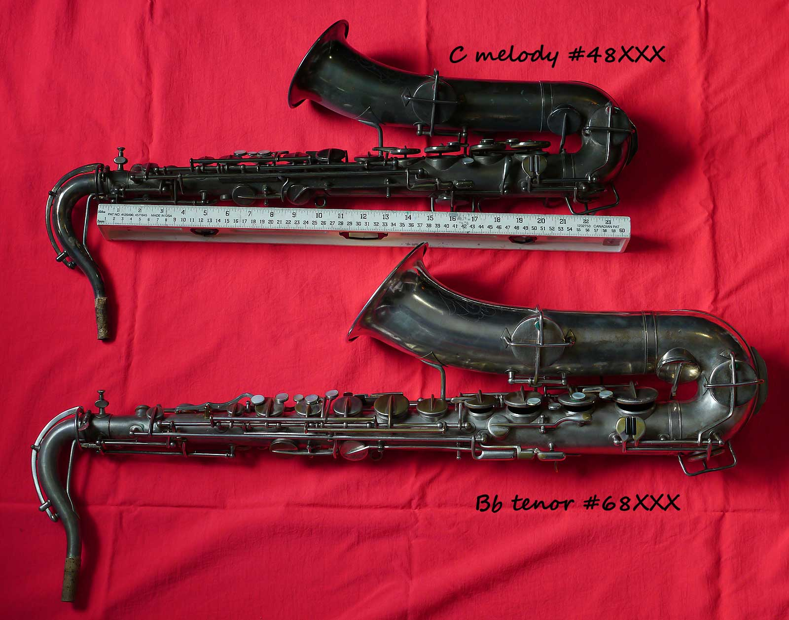 How can you tell a C melody from a Bb tenor sax, Handcraft, Martn tenor sax, Martin C melody sax, ruler