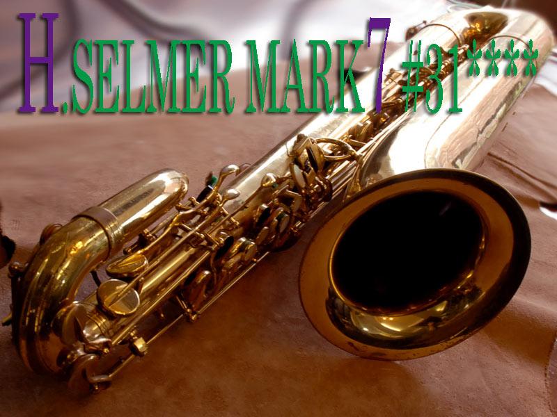 Selmer Mark VII baritone saxophone, low A bari sax, saxophone keys, saxophone bell,