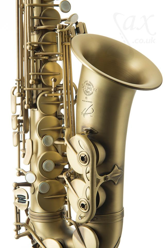 Selmer Reference 54 alto saxophone, saxophone keys, sax keys, mother of pearl key touches, key rollers, key shapes, antique finish