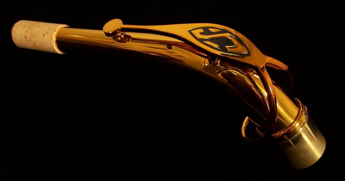 Selmer Reference 54 alto saxophone neck, alto sax neck, Selmer logo, octave key