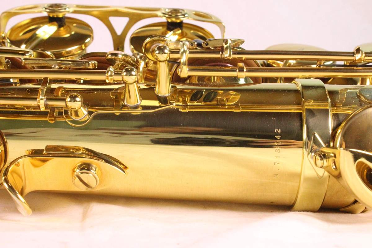 Selmer Reference 54 tenor saxophone, tenor sax, French saxophone, thumb hook, posts,