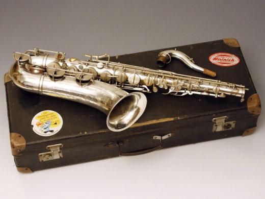 F. Köhler, Empor tenor sax, vintage German tenor saxophone, silver plated sax, vintage case
