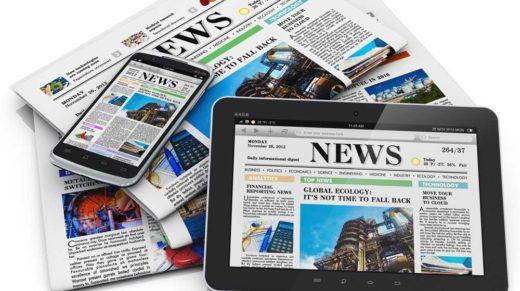 online magazine, newspapers, tablet, smartphone,