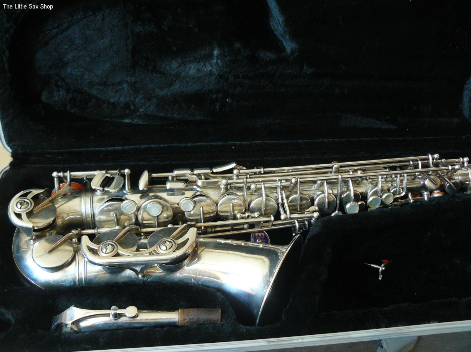 B&S blue label, alto sax, saxophone in case, vintage East German sax
