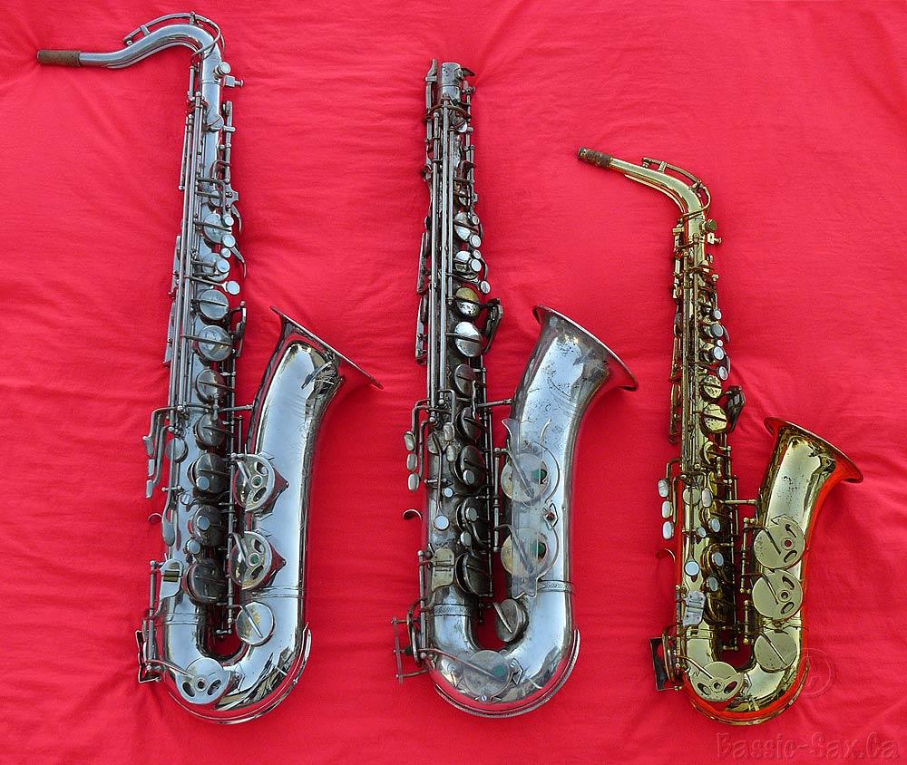 tenor saxes, alto saxophone, Hammerschmidt, Klingsor, Hüttl, German, vintage