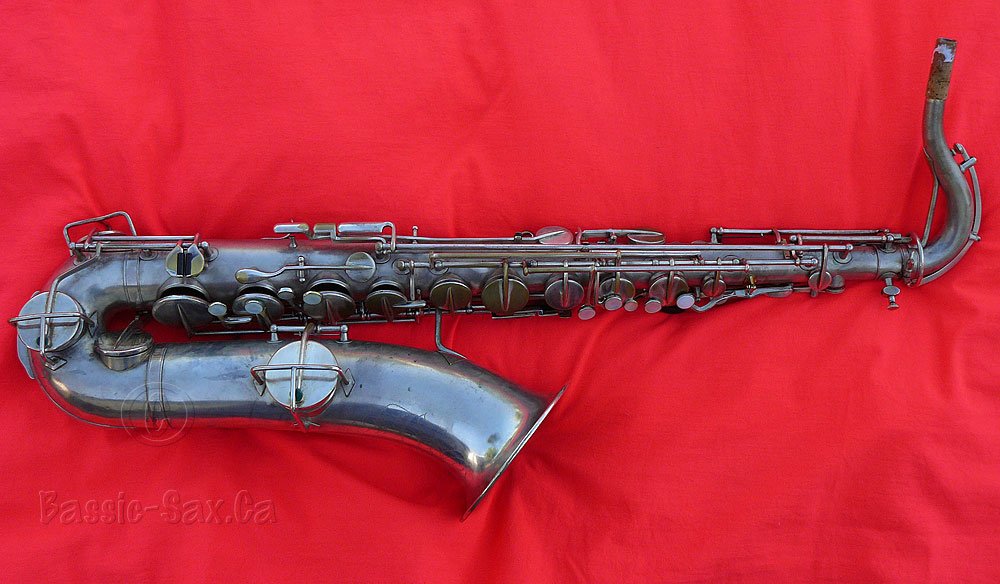 Martin Handcraft tenor saxophone, tenor sax, silver plated horn, red cloth