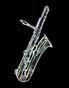 bass saxophone, thumbnail image, white, black background