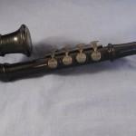wooden blow accordion, 4 key blow accordion, vintage wooden musical instrument