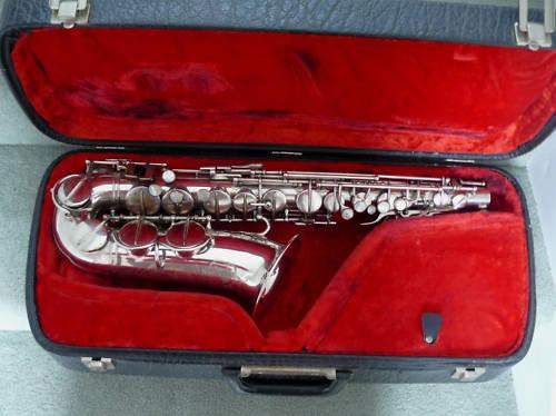 alto saxophone, sax case, Hohner President