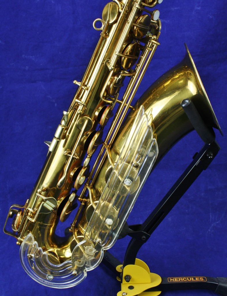 Julius Keilwerth, The New King, tenor saxophone, vintage, German, angel wing, Plexiglas, blue, gold,