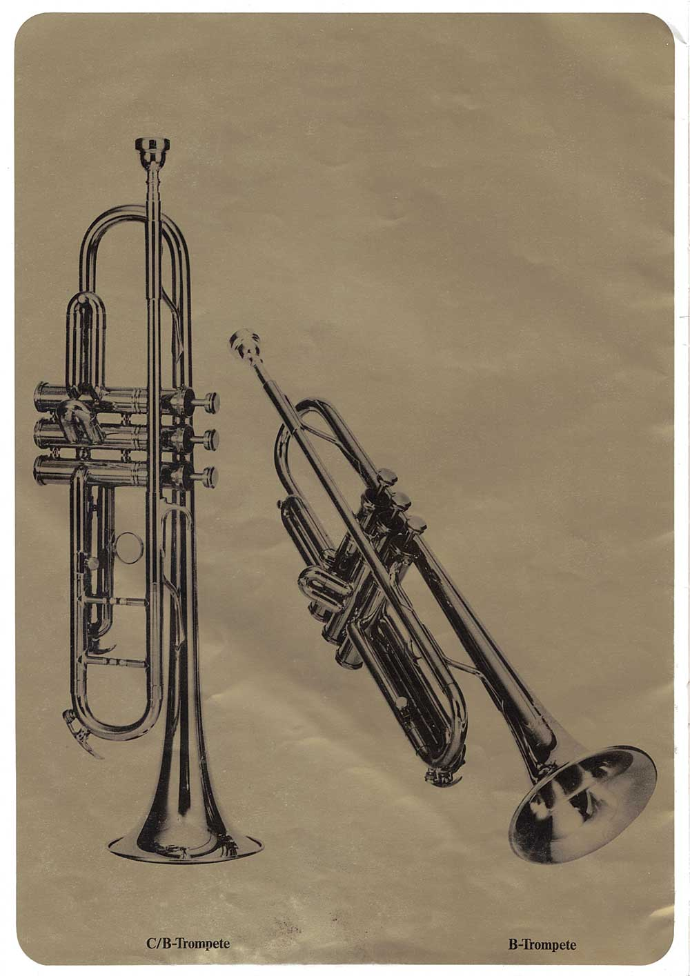 Julius Keilwerth, vintage catalogue, 1979, page 17, trumpets, black, gold