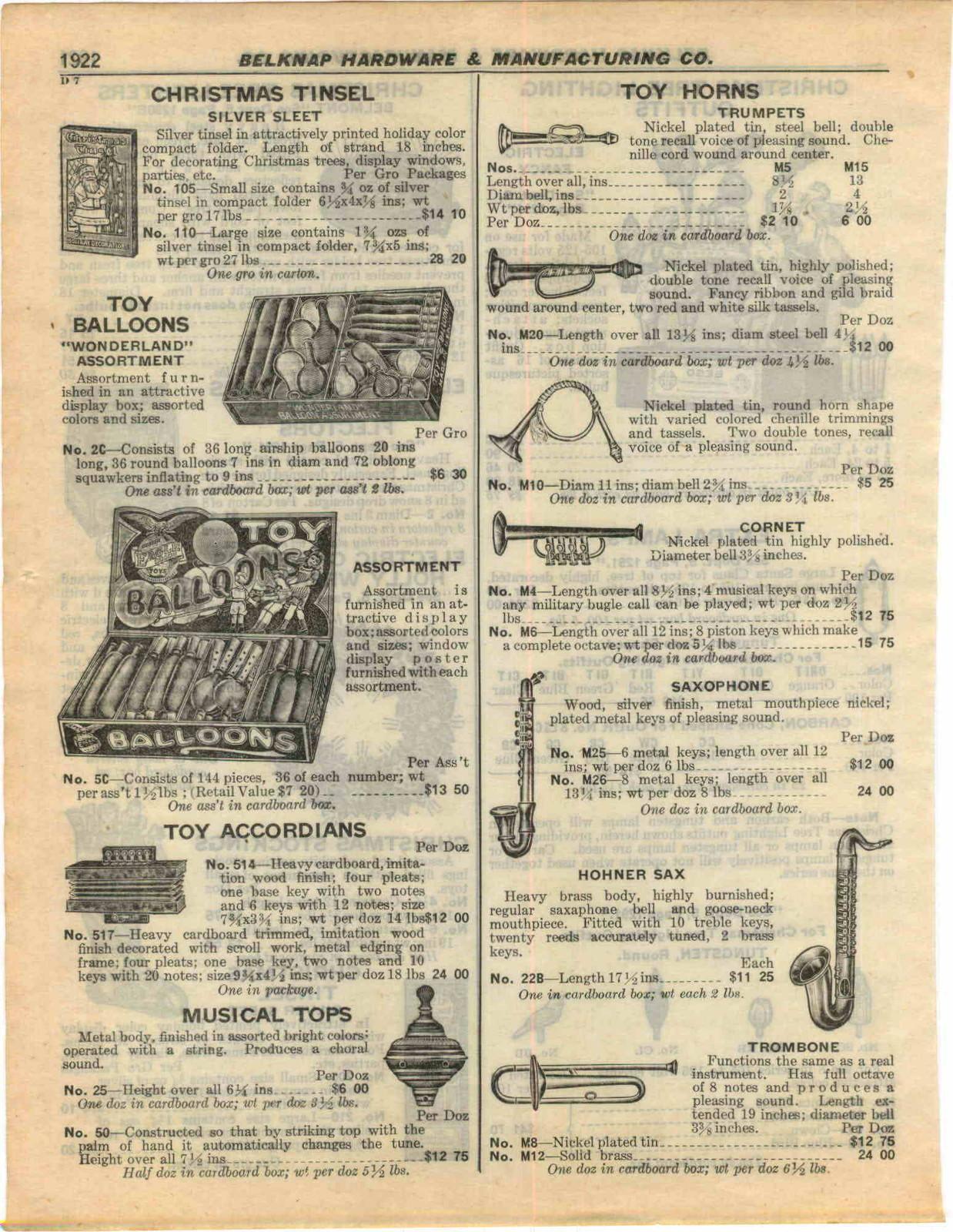 vintage catalogue, 1927, wooden German sax, Hohner sax