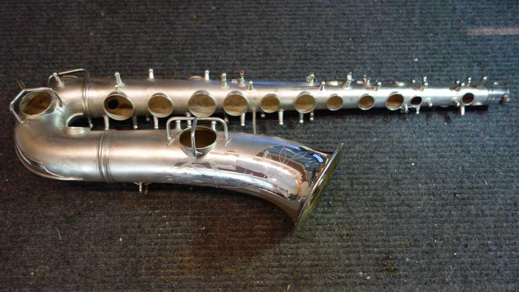 saxophone tone holes, Conn, C melody sax, Naked lady