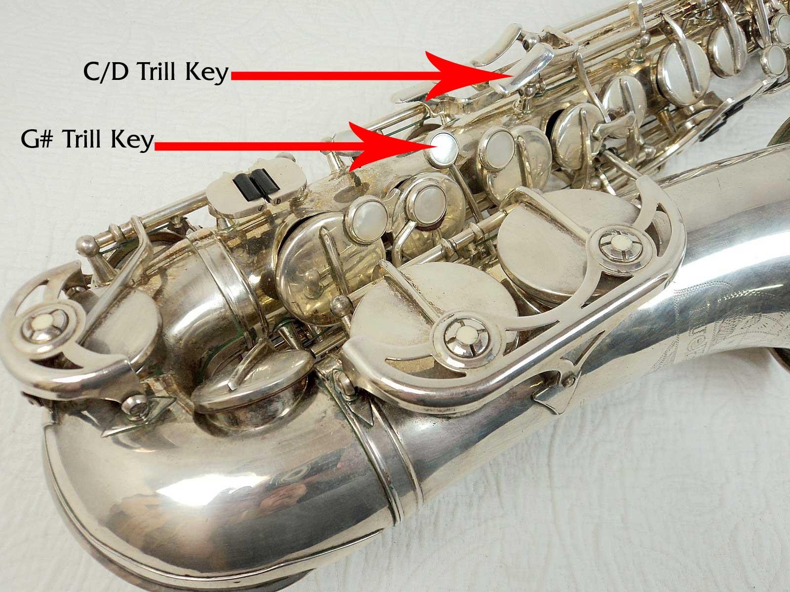 Labelled Trill Keys Bassic Sax
