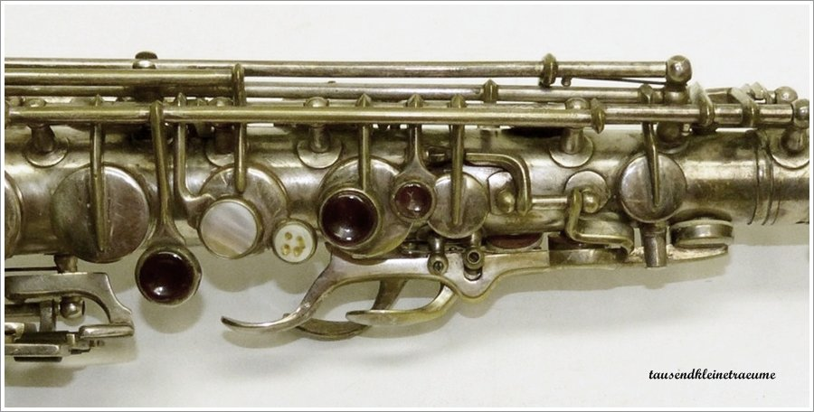 alto saxophone, Akustik, East German saxophone, vintage, silver plated, coloured glass key touches