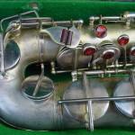 alto saxophone, saxophone keys, silver plated, Weltklang alto sax, vintage German, DDR