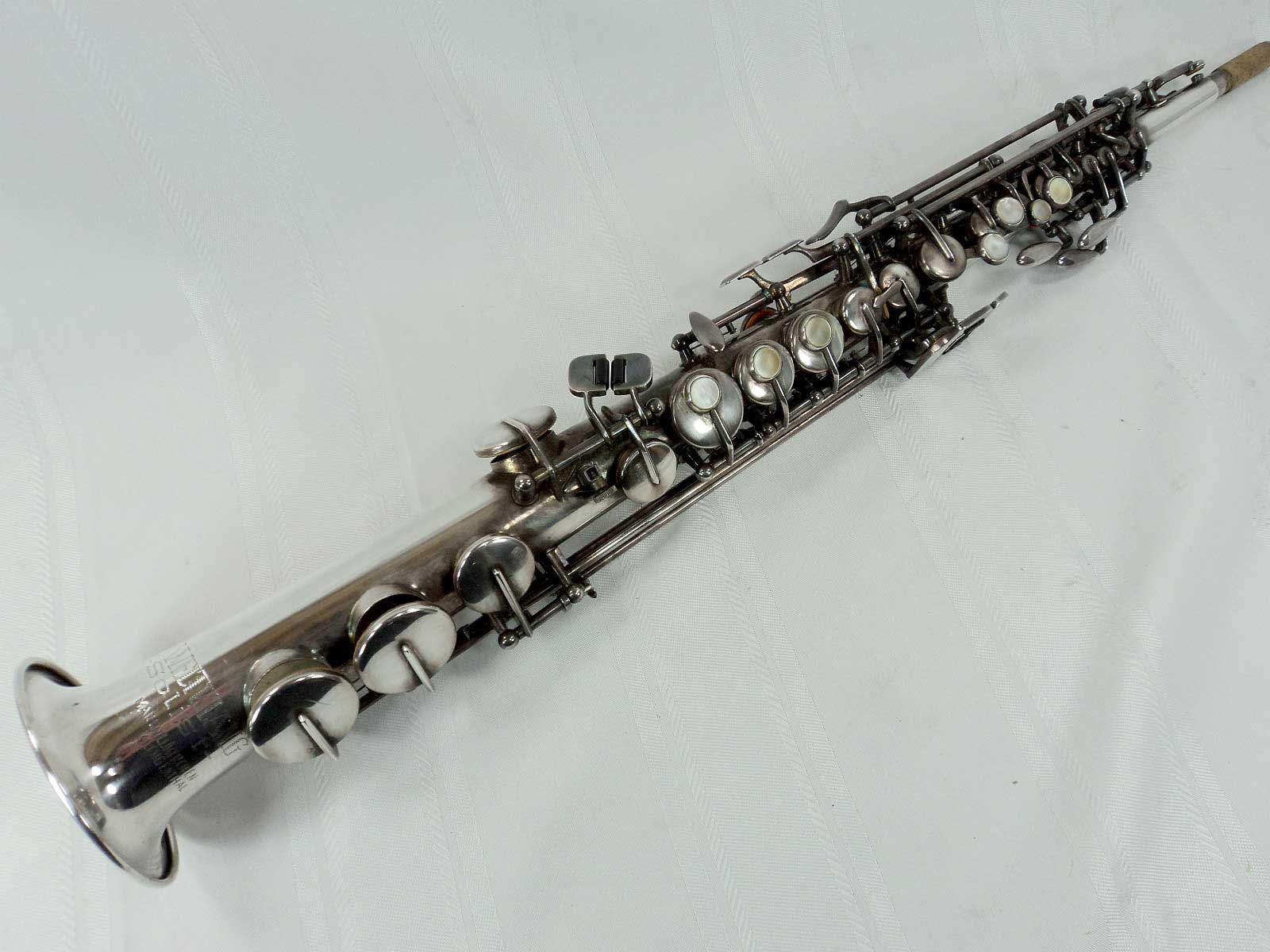 weltklang, soprano saxophone, silver plated, vintage, German Sax, DDR