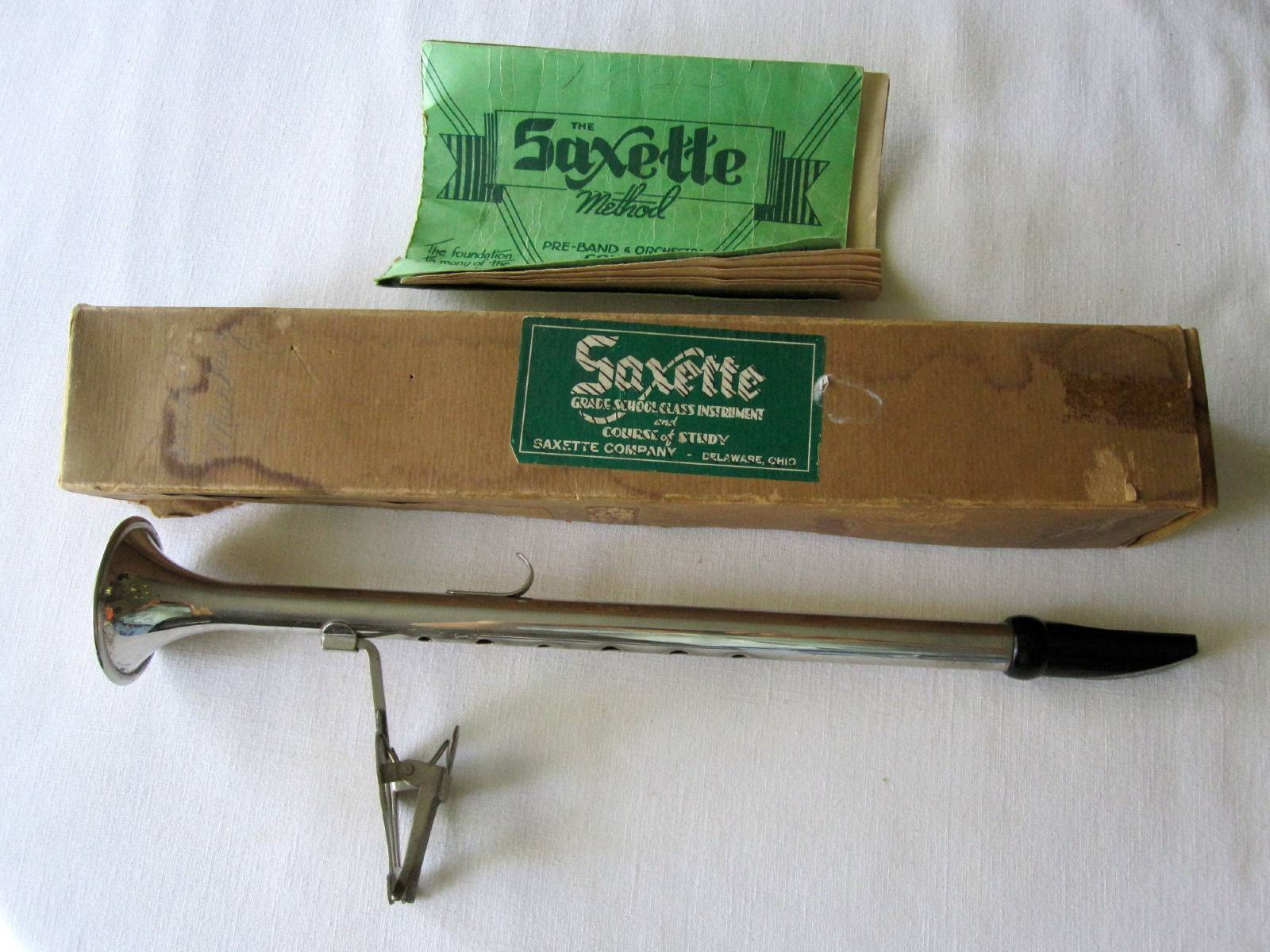 Saxette with Original Box, Lyre, & Music