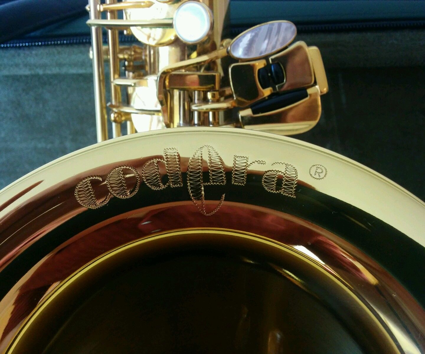 B&S Codera saxophone, Codera bell engraving, sax keys, German saxophone