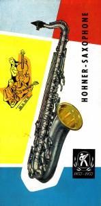 German Hohner Saxophone Brochure, Hohner President, tenor sax, 1958, vintage brochure