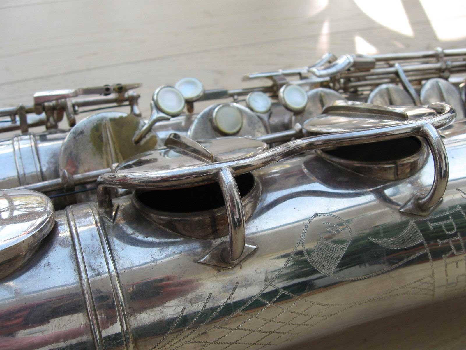 Hohner President, tenor sax, vintage sax, German sax, Max Keilwerth, bevelled tone holes, saxophone tone holes