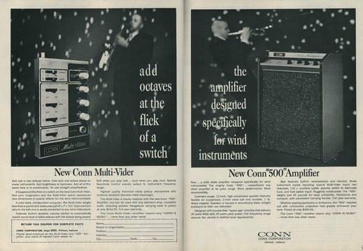 1968 Conn Multivider Ad