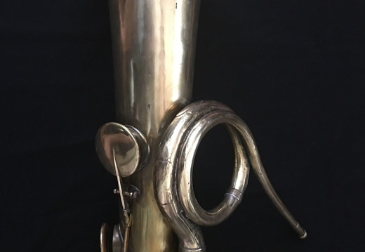 9 key C Bass Ophicleide (1800s?).  No maker engraved.